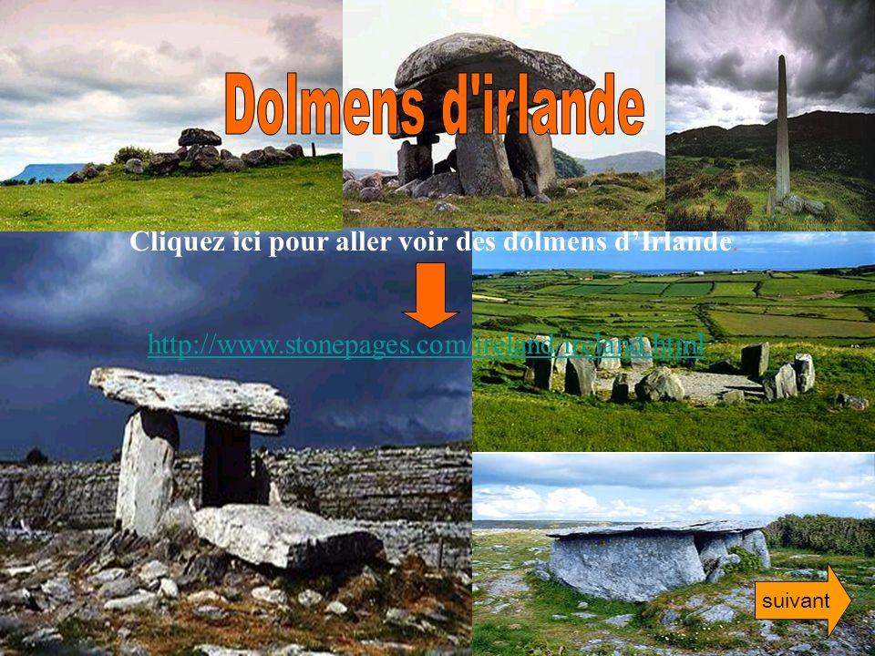 Dolmens d irlande Cliquez ici pour aller voir des dolmens d'Irlande.
