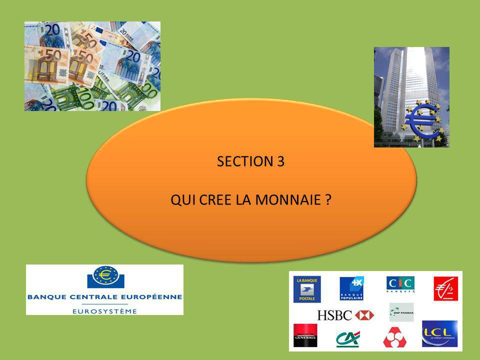 SECTION 3 QUI CREE LA MONNAIE