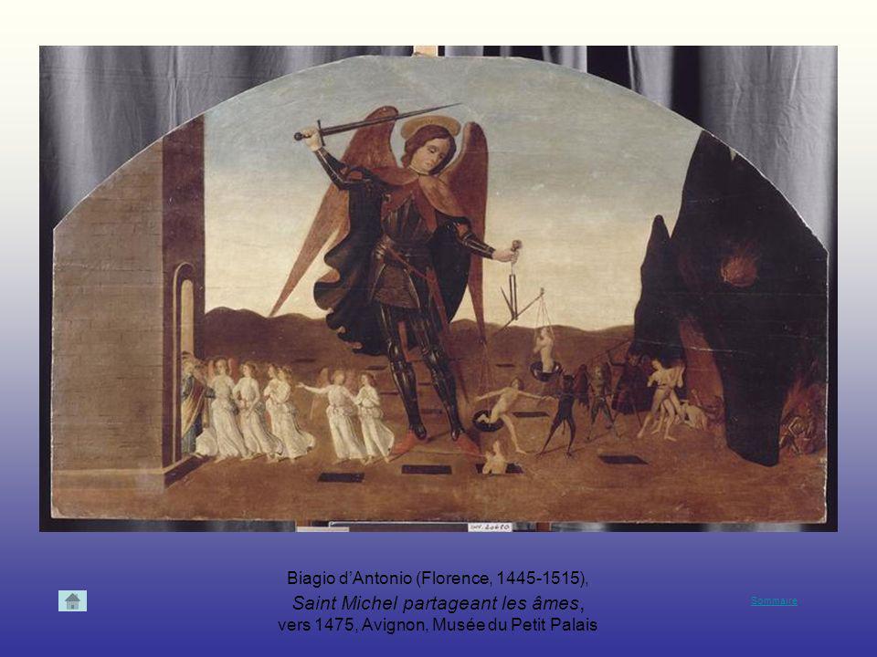 Biagio d'Antonio (Florence, 1445-1515), Saint Michel partageant les âmes, vers 1475, Avignon, Musée du Petit Palais