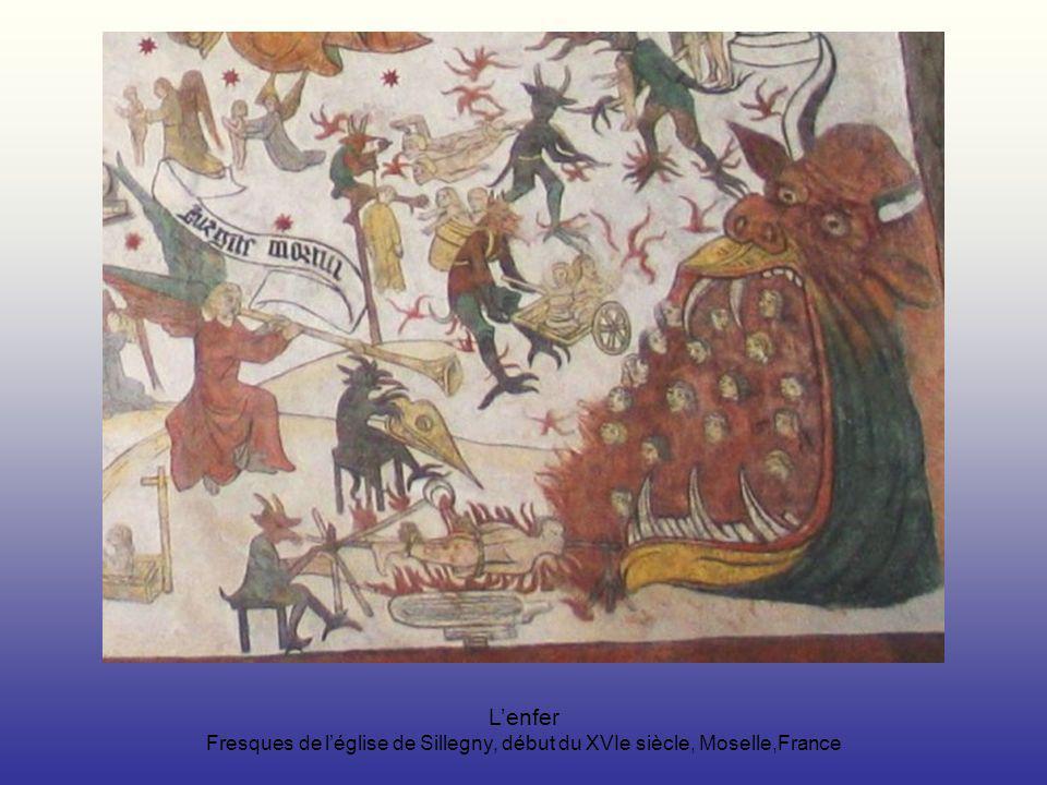 L'enfer Fresques de l'église de Sillegny, début du XVIe siècle, Moselle,France