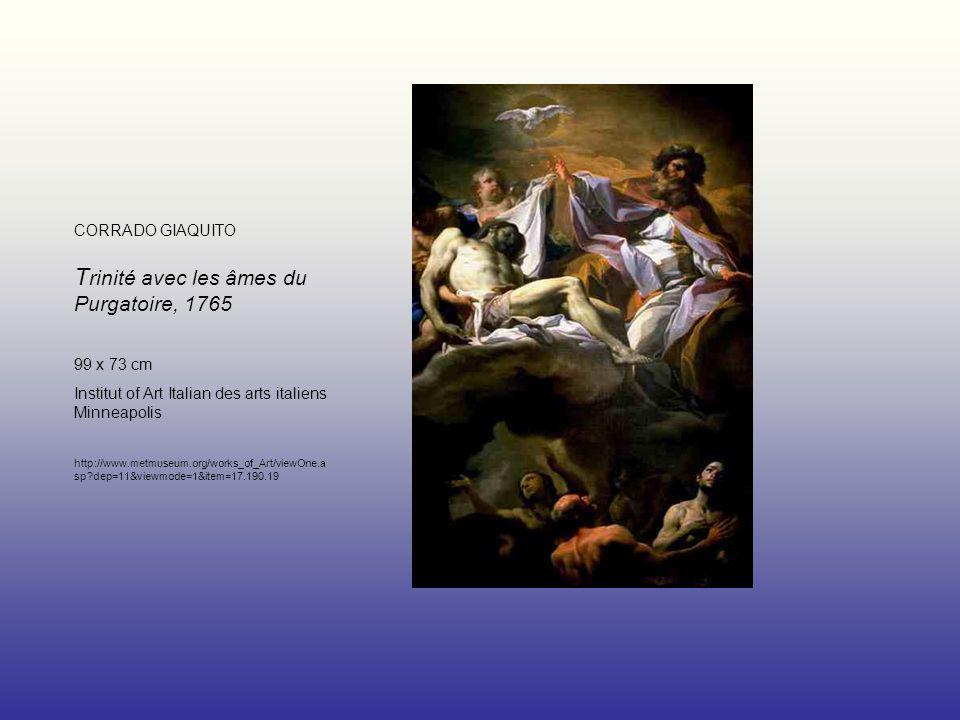 CORRADO GIAQUITO Trinité avec les âmes du Purgatoire, 1765