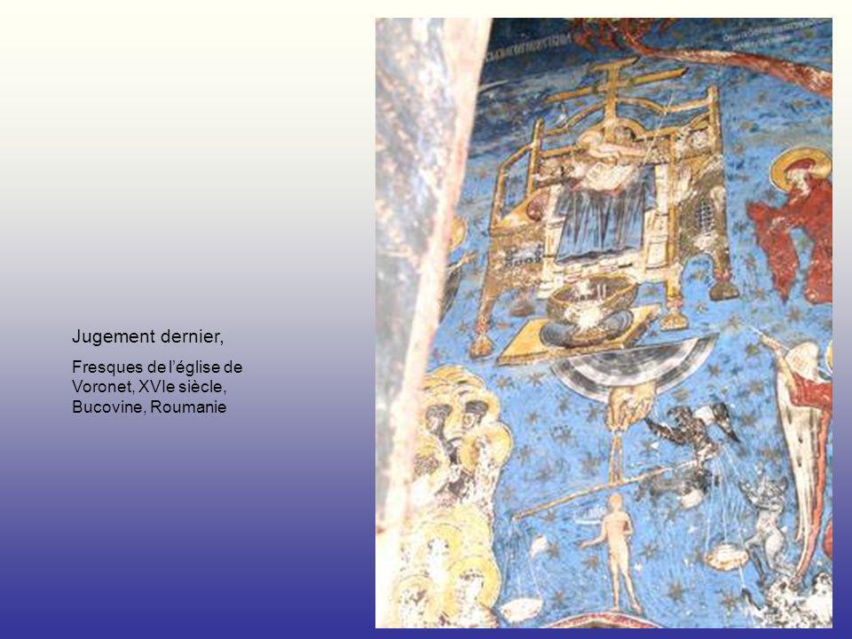 Jugement dernier, Fresques de l'église de Voronet, XVIe siècle, Bucovine, Roumanie