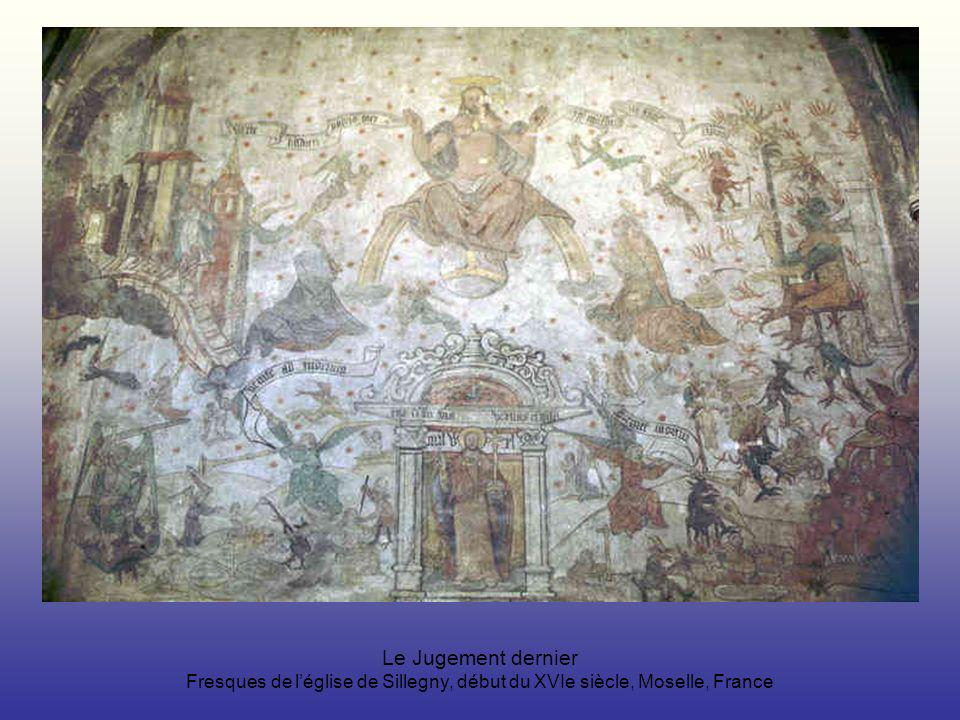 Le Jugement dernier Fresques de l'église de Sillegny, début du XVIe siècle, Moselle, France