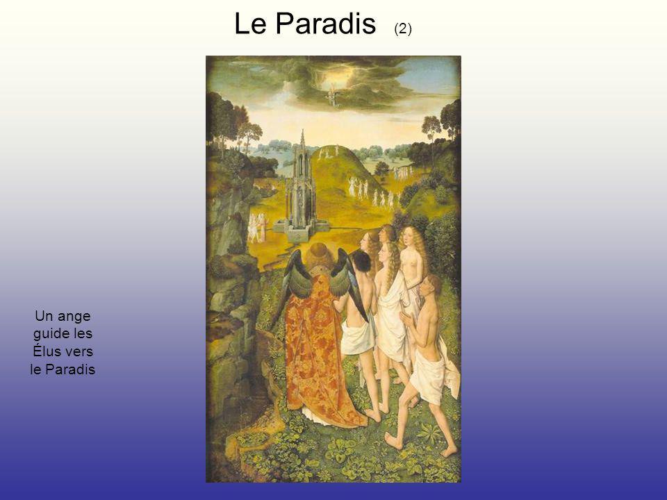 Un ange guide les Élus vers le Paradis