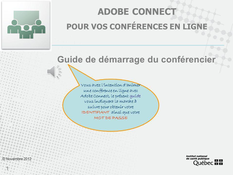Adobe connect POUR VOS CONFÉRENCES EN LIGNE