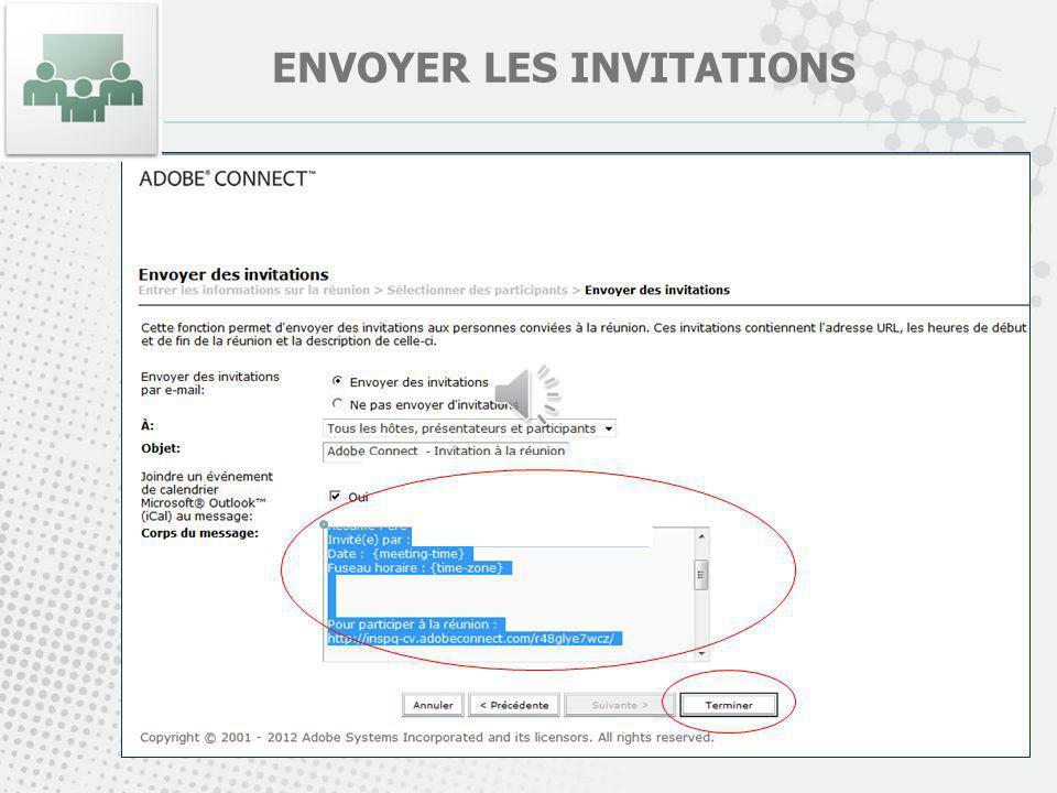 ENVOYER LES INVITATIONS
