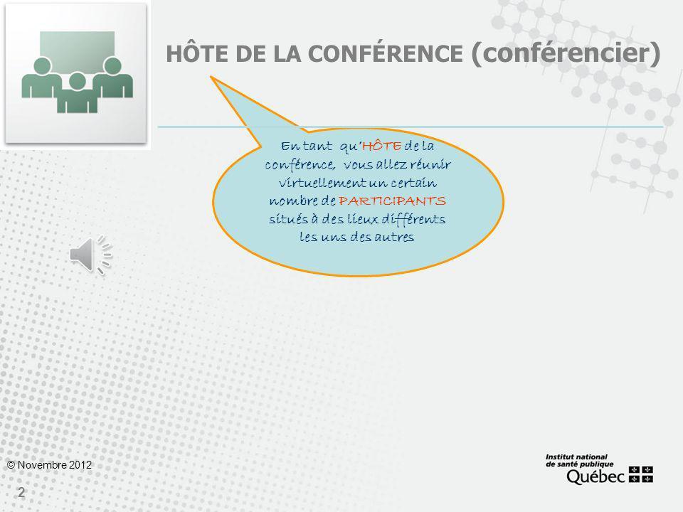 HÔTE DE LA conférence (conférencier)