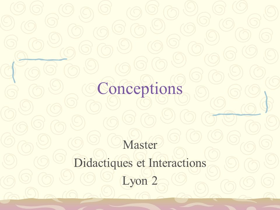 Master Didactiques et Interactions Lyon 2