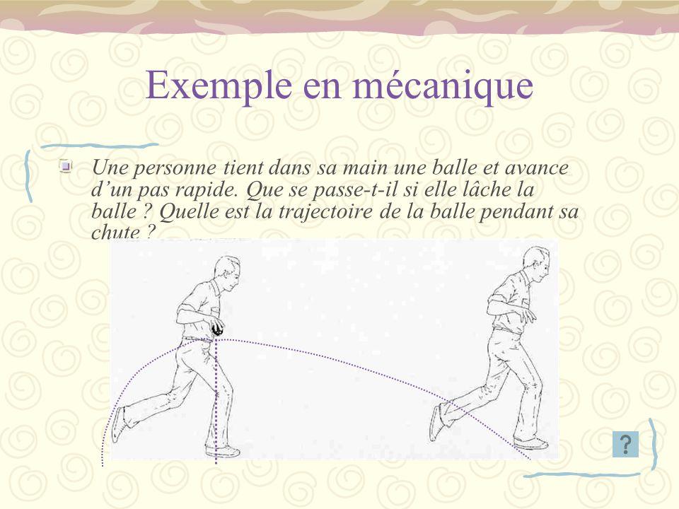 Exemple en mécanique