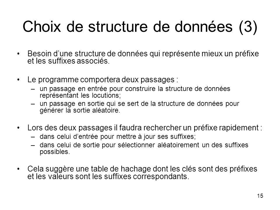 Choix de structure de données (3)