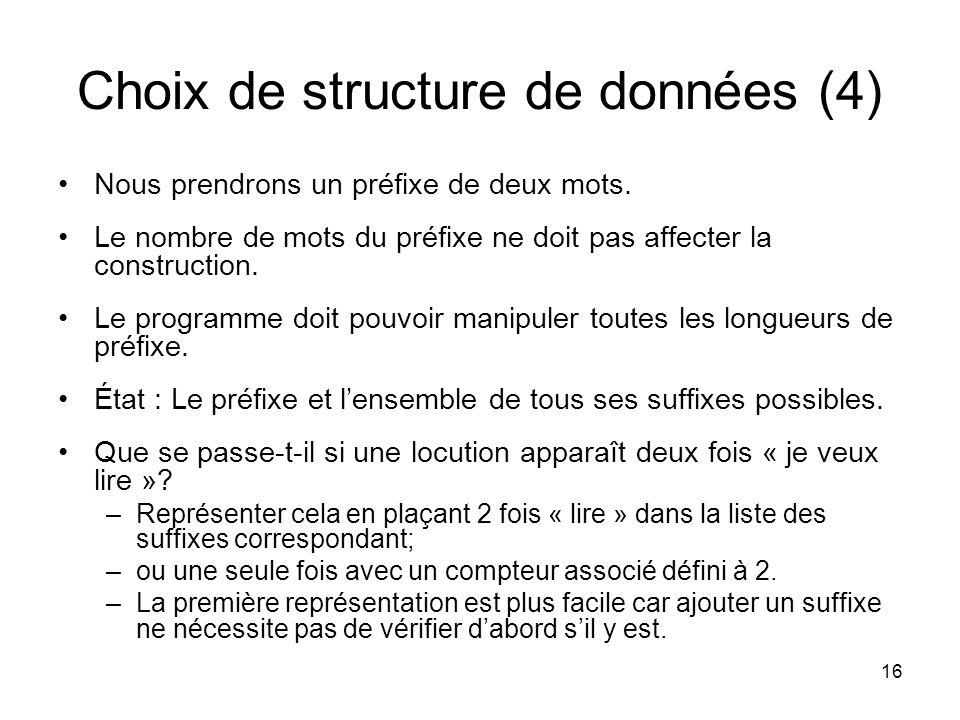 Choix de structure de données (4)