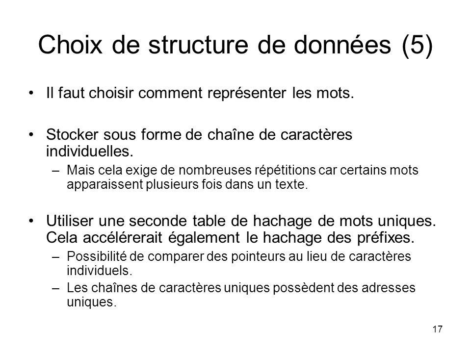 Choix de structure de données (5)