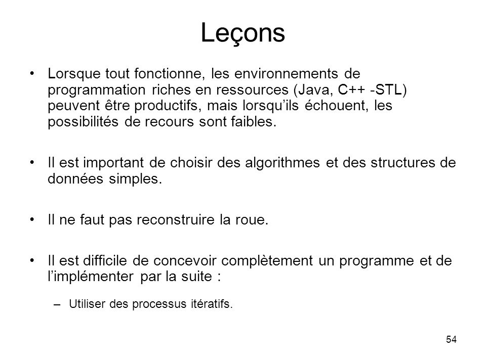 Leçons