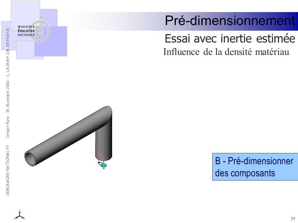 Influence de la densité matériau
