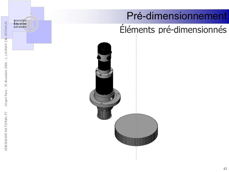 Pré-dimensionnement Éléments pré-dimensionnés