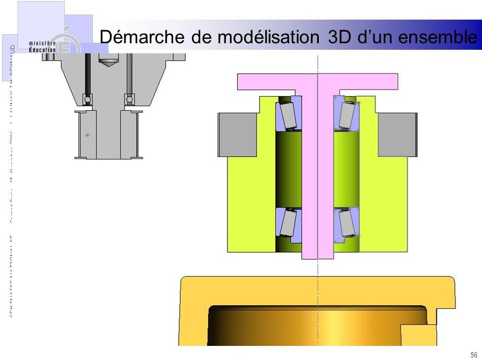 Démarche de modélisation 3D d'un ensemble