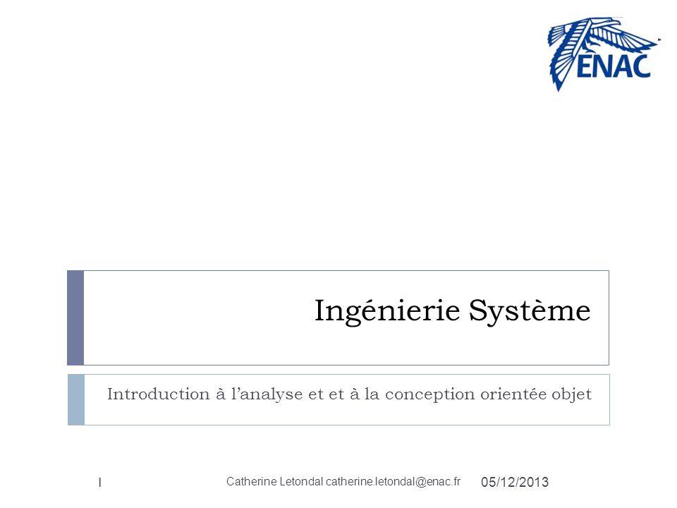 Introduction à l'analyse et et à la conception orientée objet