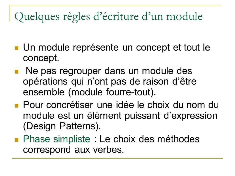 Quelques règles d'écriture d'un module