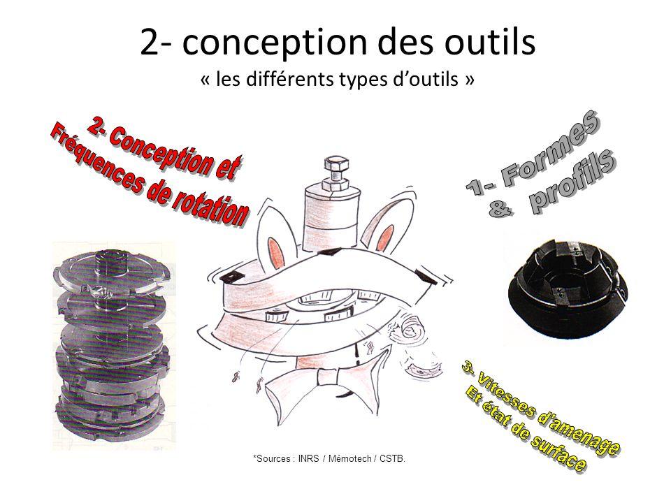 2- conception des outils « les différents types d'outils »