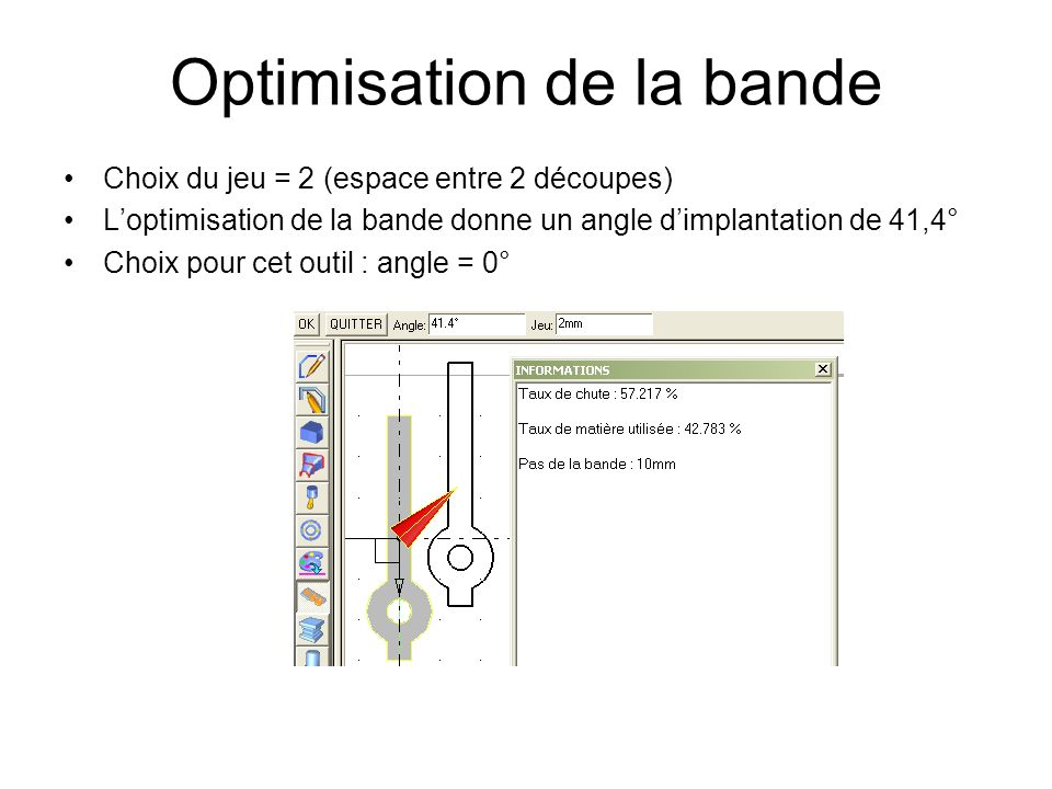 Optimisation de la bande