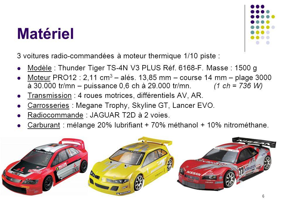Matériel 3 voitures radio-commandées à moteur thermique 1/10 piste :