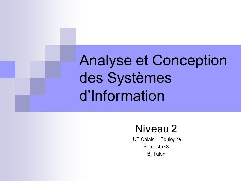Analyse et Conception des Systèmes d'Information