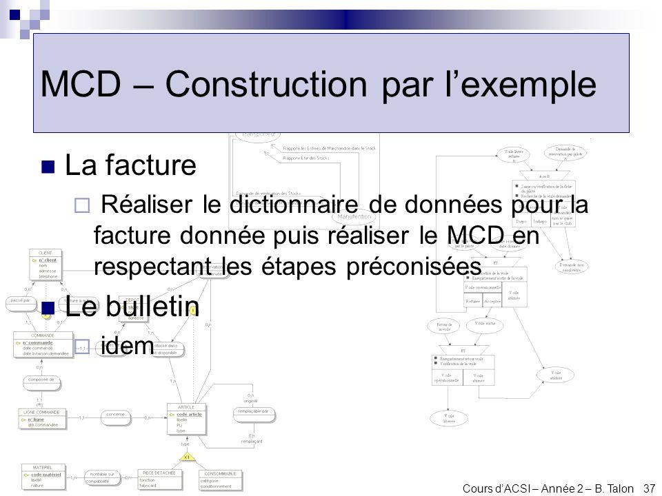 MCD – Construction par l'exemple