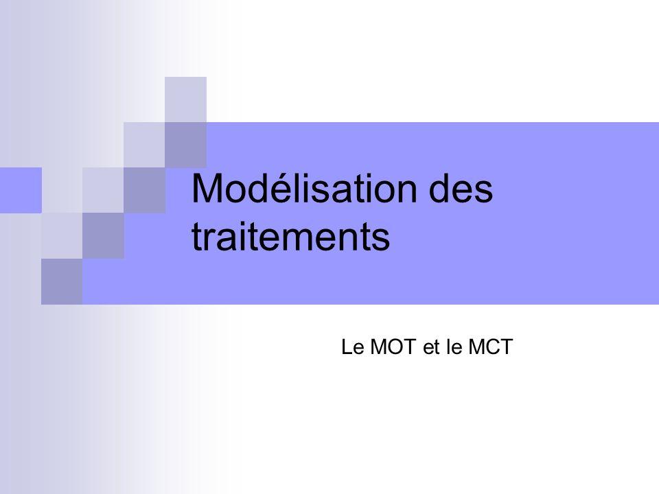 Modélisation des traitements