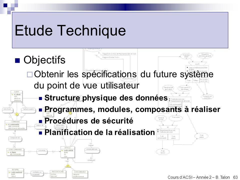 Etude Technique Objectifs