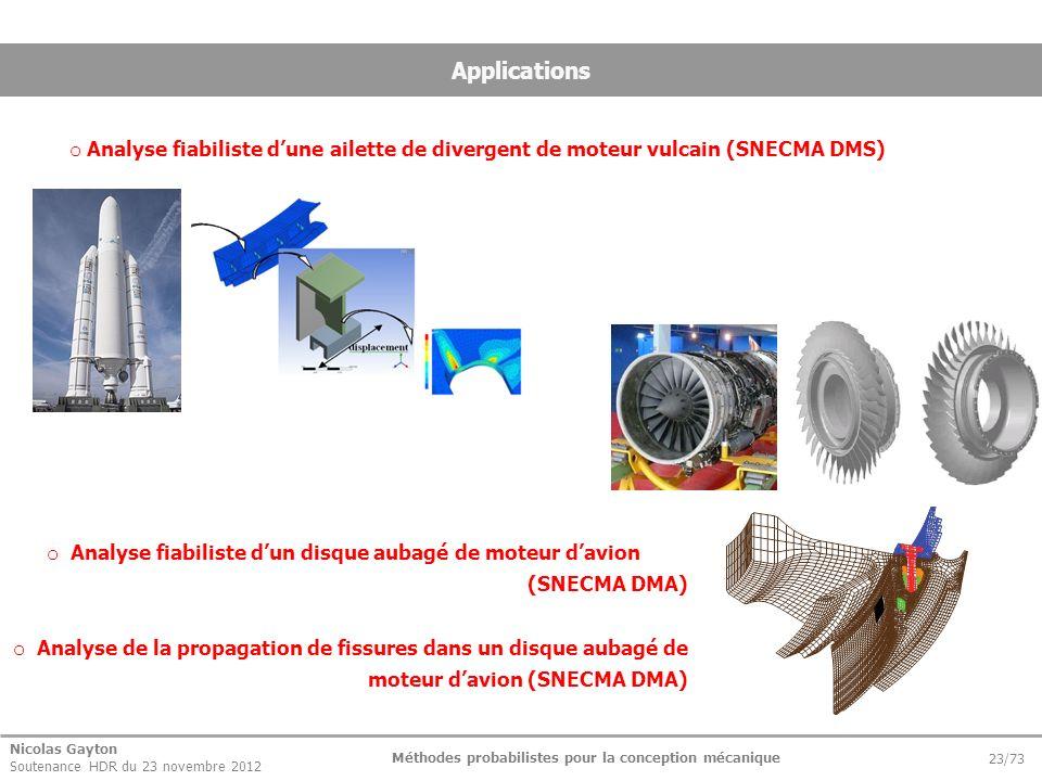 Analyse fiabiliste d'un disque aubagé de moteur d'avion