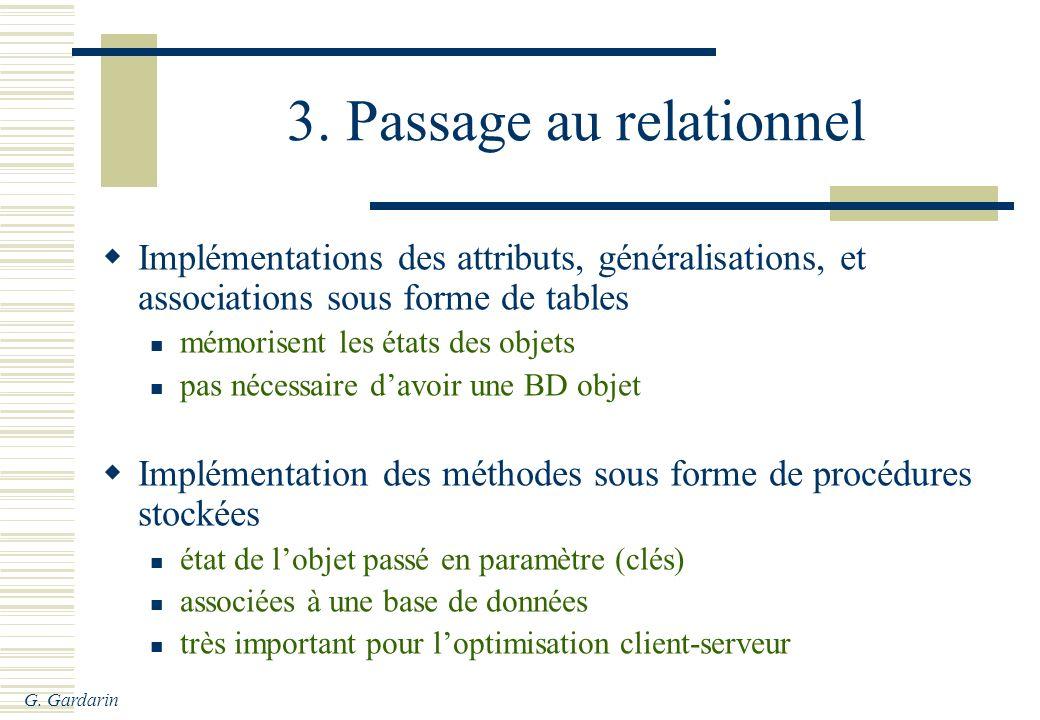 3. Passage au relationnel