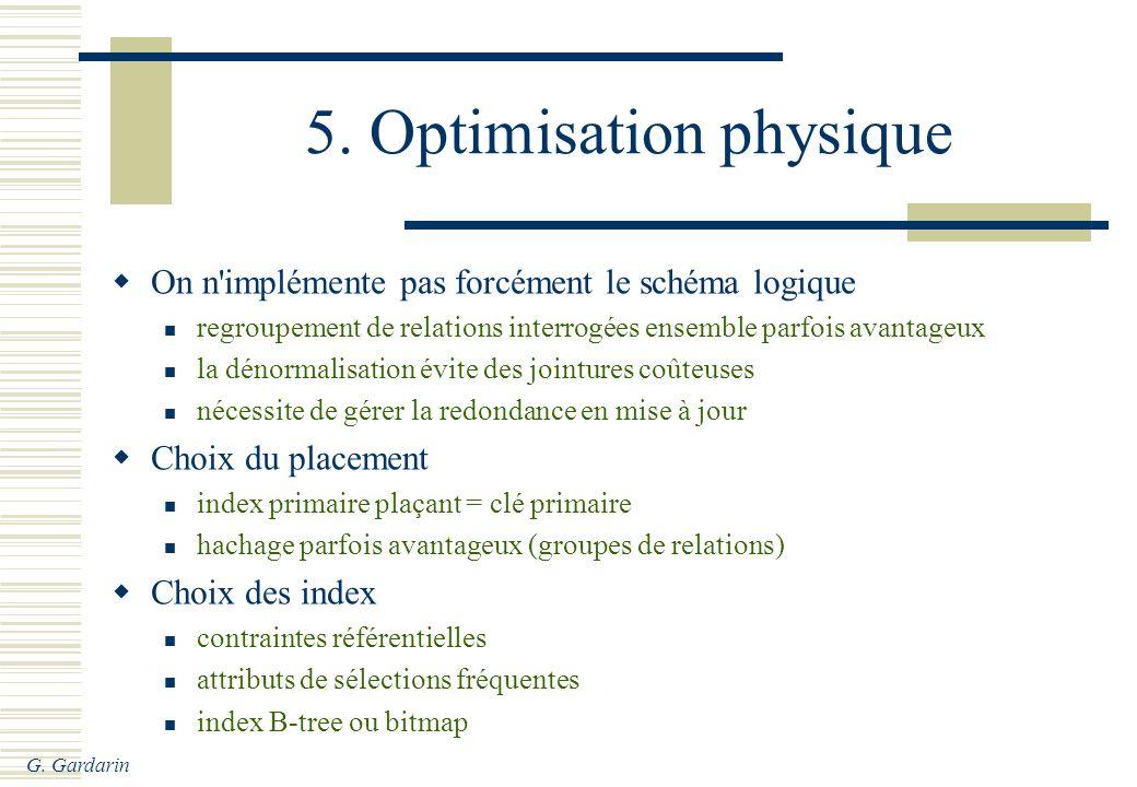5. Optimisation physique
