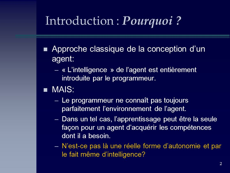Introduction : Pourquoi