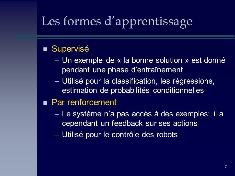 Les formes d'apprentissage