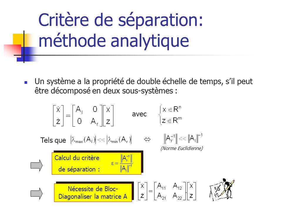 Critère de séparation: méthode analytique