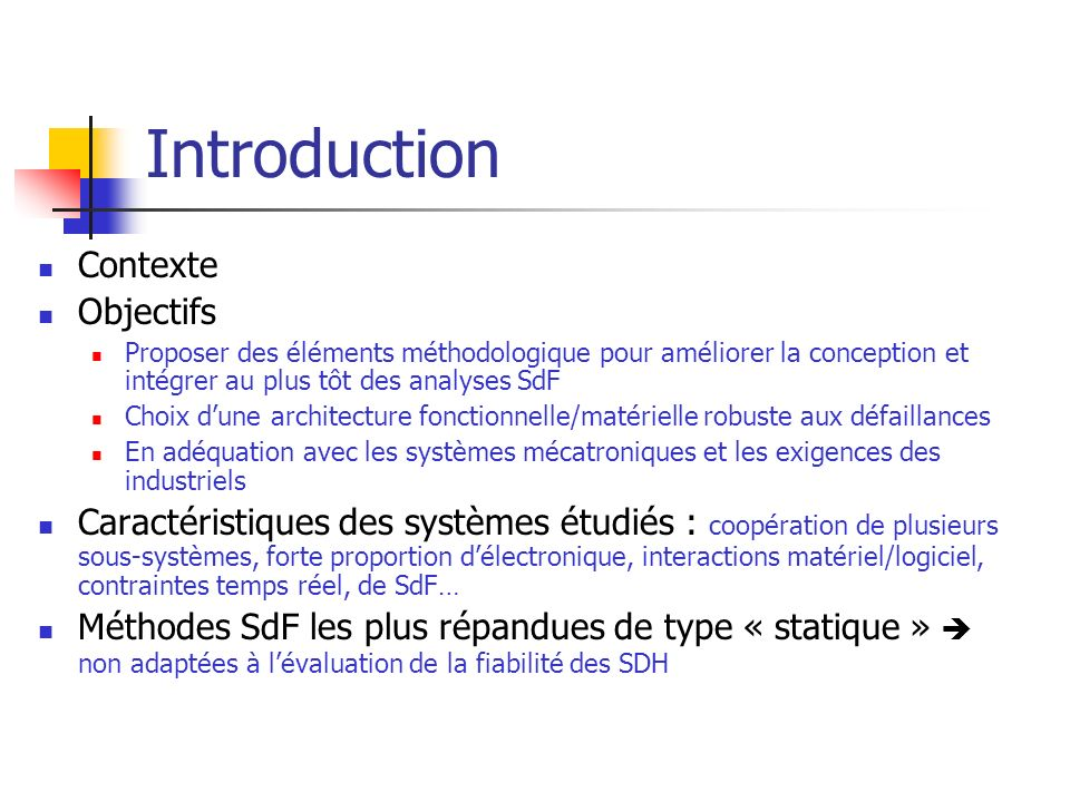 Introduction Contexte Objectifs