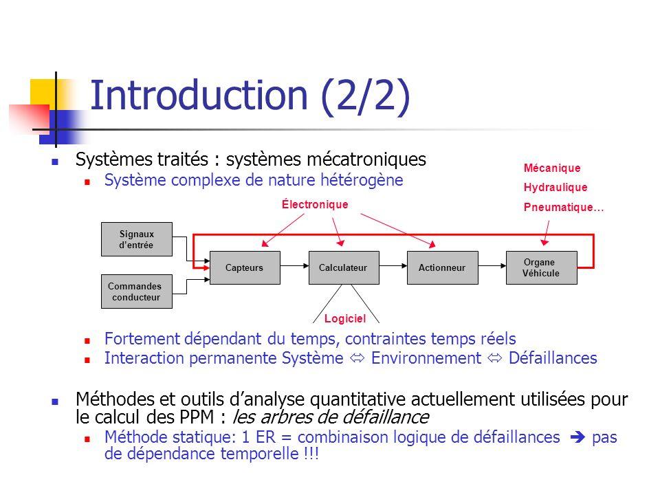 Introduction (2/2) Systèmes traités : systèmes mécatroniques