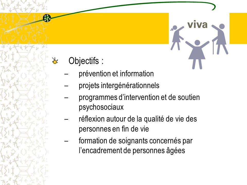 Objectifs : prévention et information projets intergénérationnels