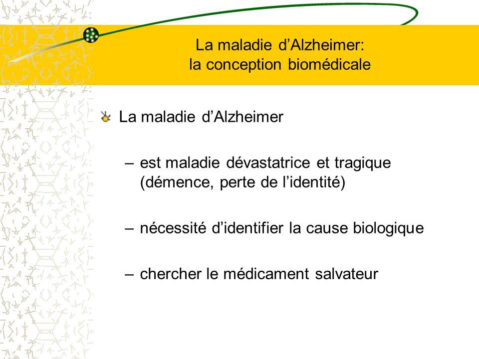 La maladie d'Alzheimer: la conception biomédicale