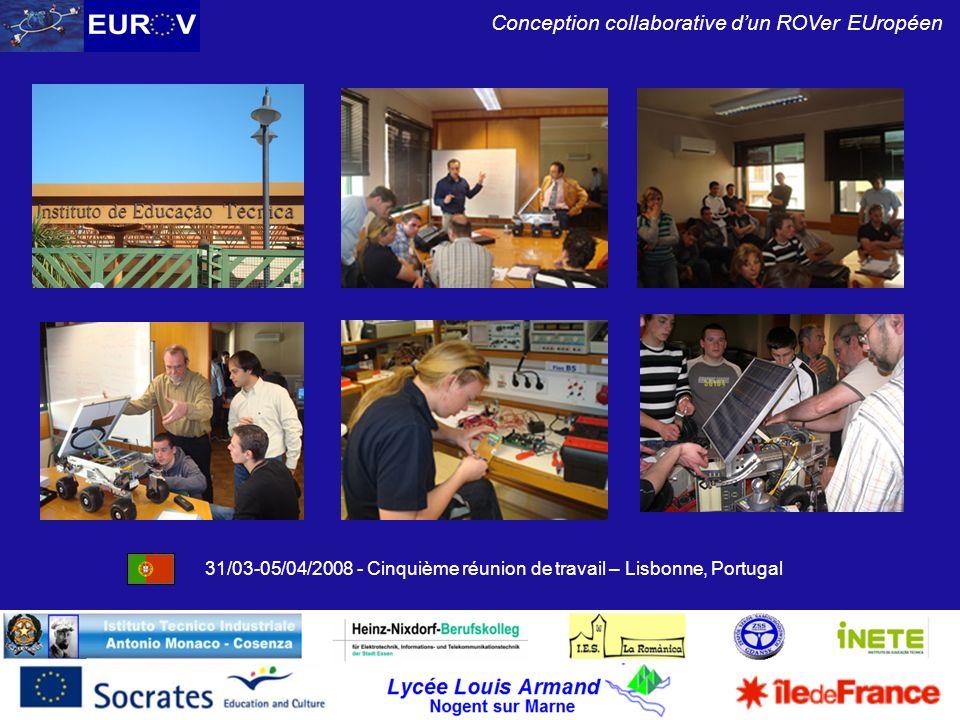 31/03-05/04/2008 - Cinquième réunion de travail – Lisbonne, Portugal