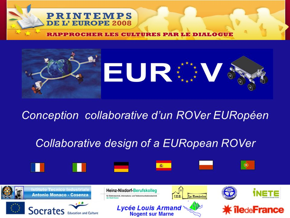 Conception collaborative d'un ROVer EURopéen