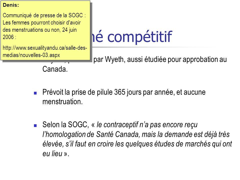 Denis: Communiqué de presse de la SOGC : Les femmes pourront choisir d avoir des menstruations ou non, 24 juin 2006 :