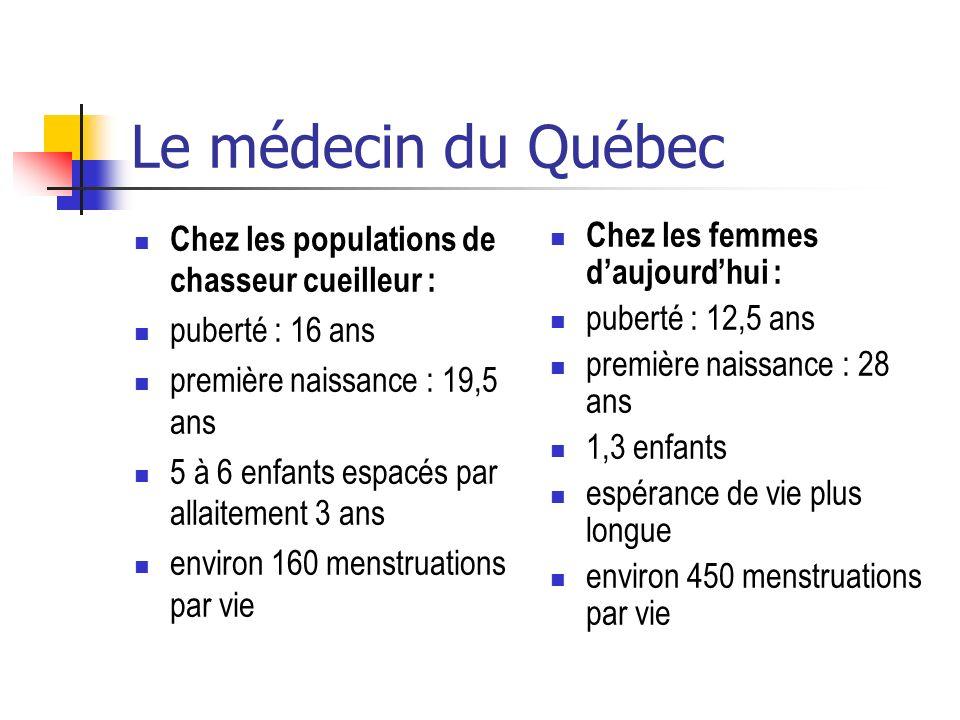Le médecin du Québec Chez les populations de chasseur cueilleur :