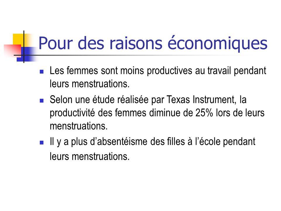 Pour des raisons économiques