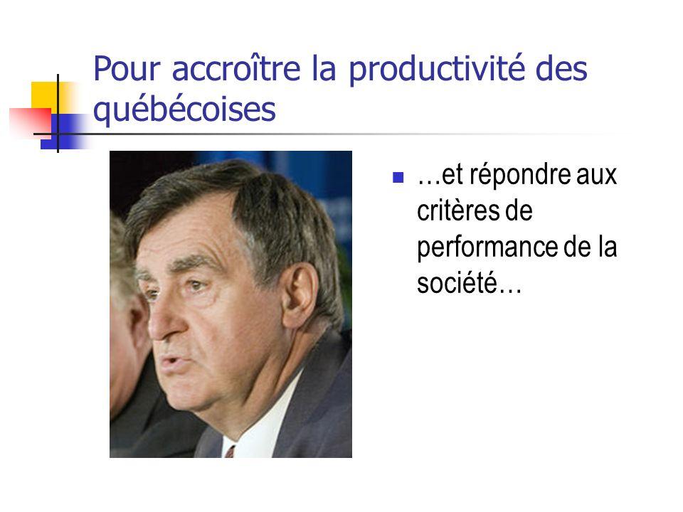Pour accroître la productivité des québécoises