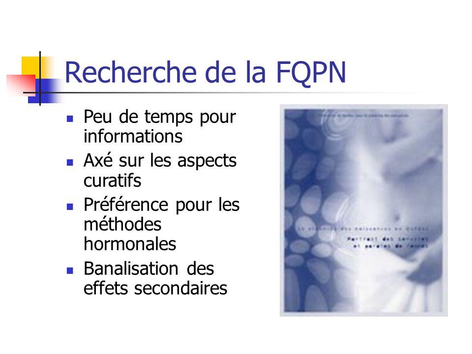 Recherche de la FQPN Peu de temps pour informations