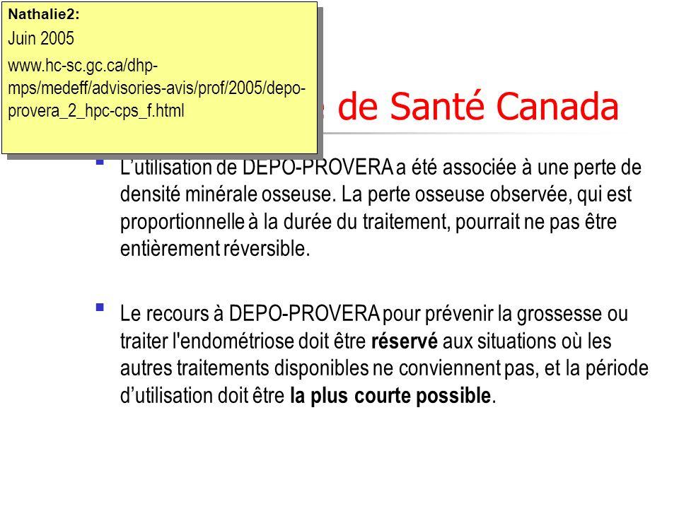 Mise en garde de Santé Canada