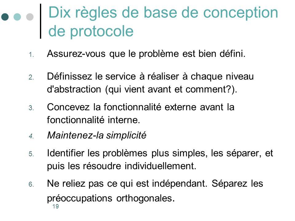 Dix règles de base de conception de protocole