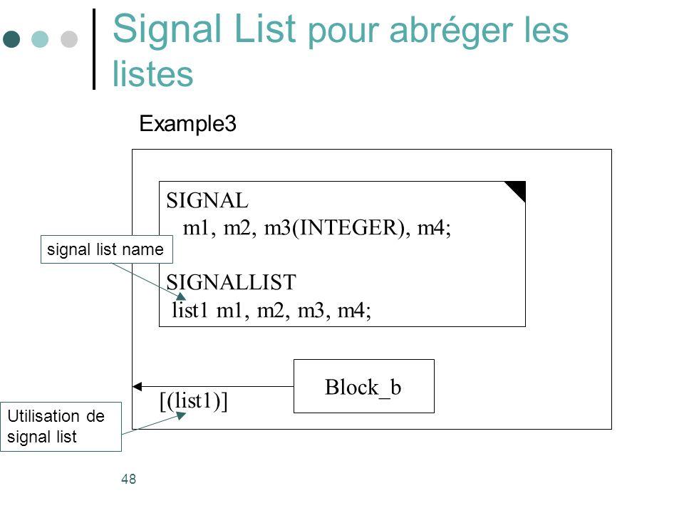 Signal List pour abréger les listes