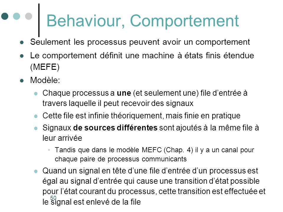 Behaviour, Comportement